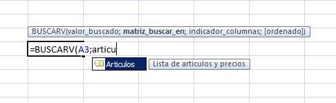 Formulas con nombres en Excel